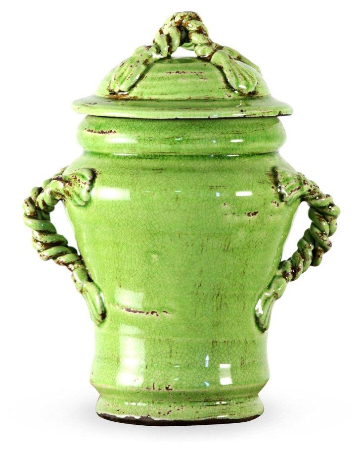 """13"""" Medina Jar, Green"""