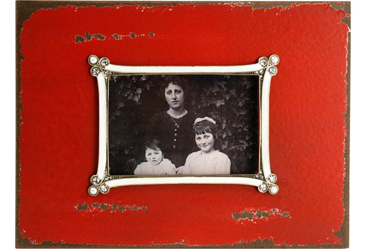 Red Wooden Photo Frame