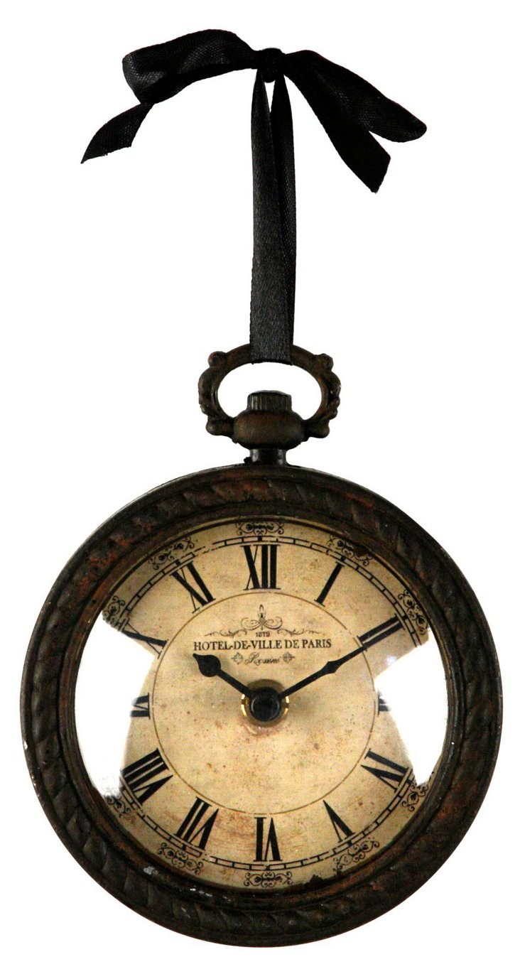 Hanging Iron Clock
