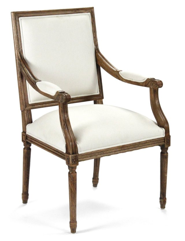 George Armchair, White