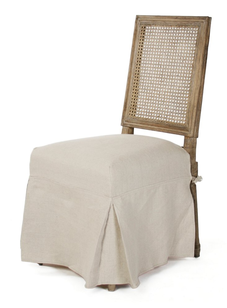 Louis Skirted Side Chair