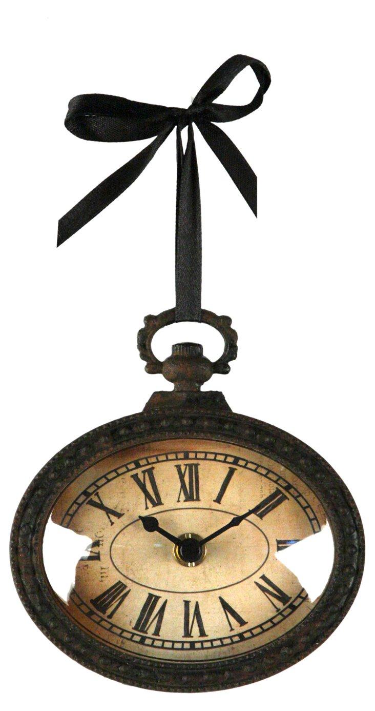Hanging Iron Clock