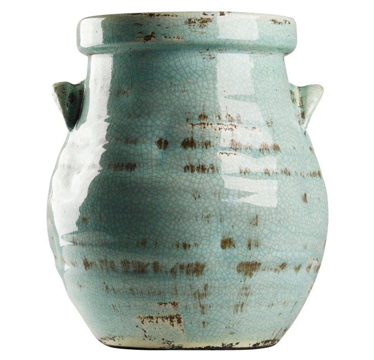 """12"""" Blue Jar w/ Handle"""