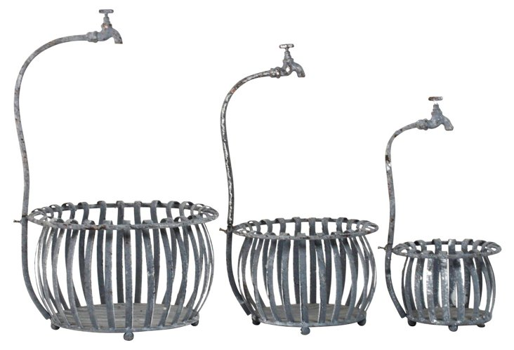 S/3 Baskets w/ Faucets