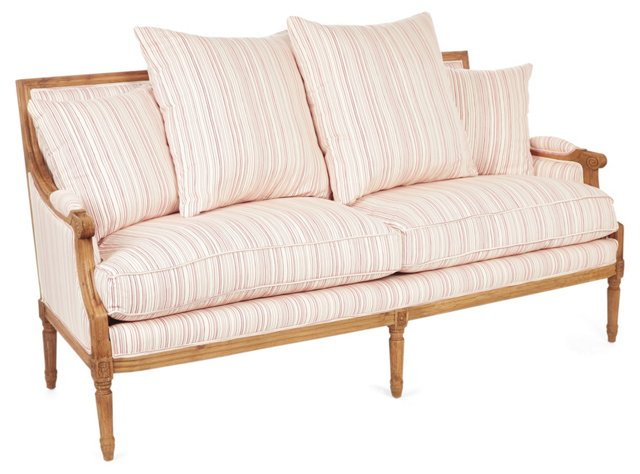 "Valeria 69"" Sofa, Cream/Rose"