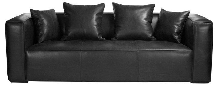 "Sylvain 90"" Leather Sofa"