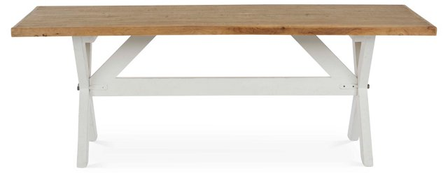 "Tempe 87"" Dining Table, Pine/White"