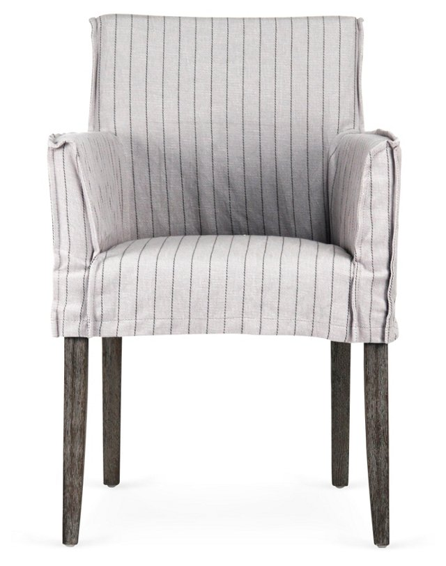 Domain Armchair, Light Gray
