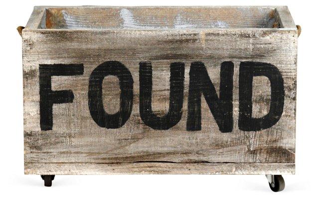 "24"" Found Cart, Oak/Black"