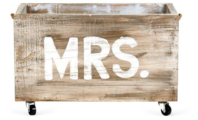 "24"" Mrs. Cart, Oak/White"