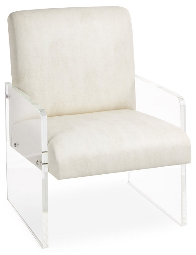 Maya Accent Chair, Ivory