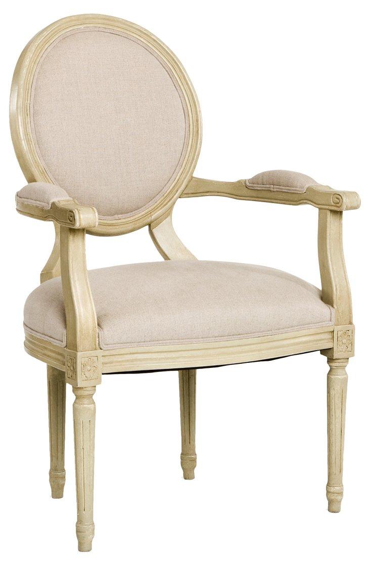 Medallion Armchair, Cream