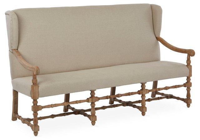Laurel Bench, Natural Linen