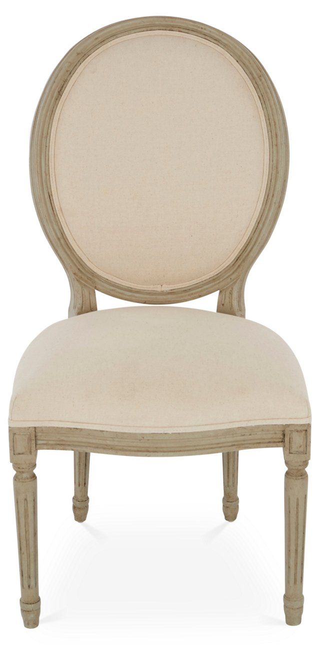 Sydney Side Chair, Olive/White