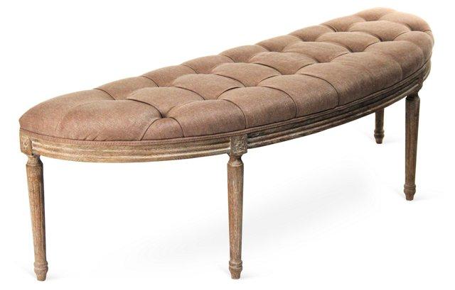 Hugo Curved Bench, Copper