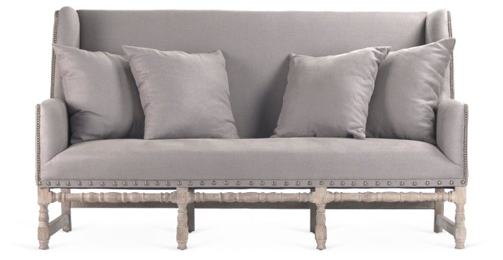 "Colina 76"" High-Back Settee"
