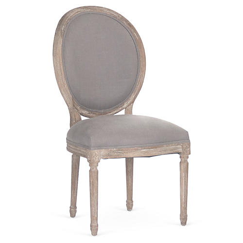 Joseph Side Chair, Gray Linen