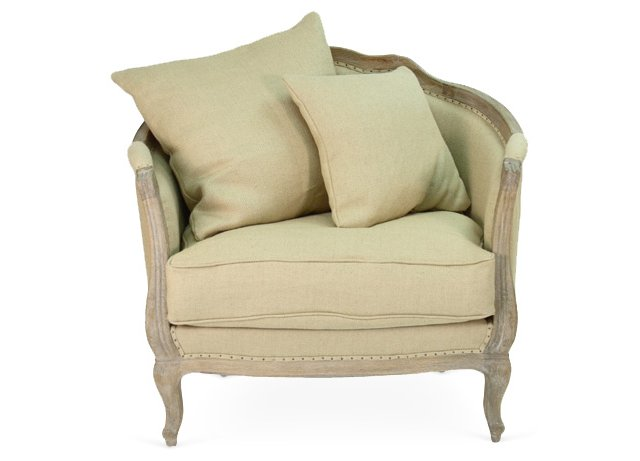 Madison Love Chair, Flax