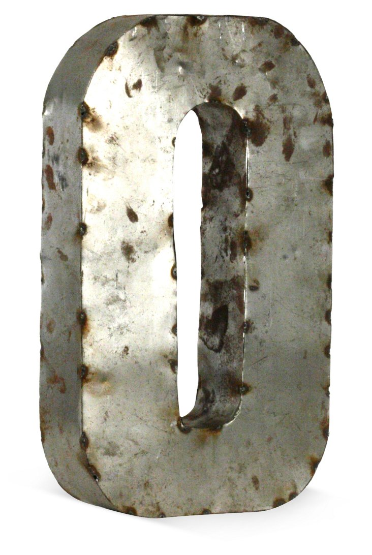 Recycled Metal Number, Small