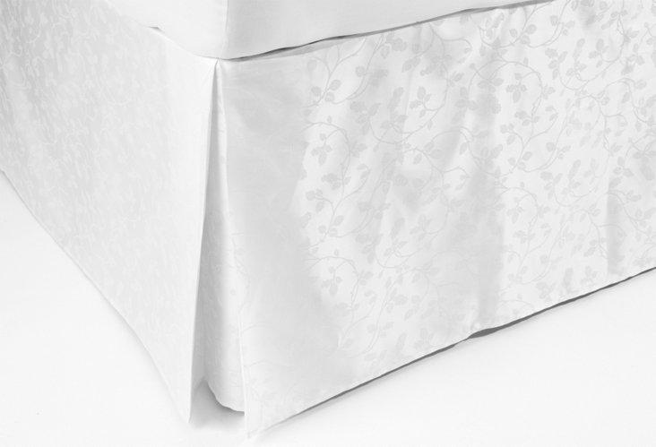 Cal King Sorrento Bed Skirt, White