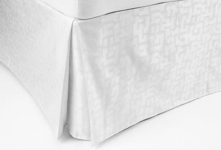 Cal King Amalfi Bed Skirt, White