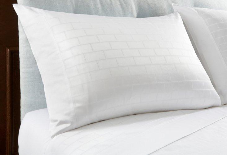 S/2 Palladio Pillow Cases, White