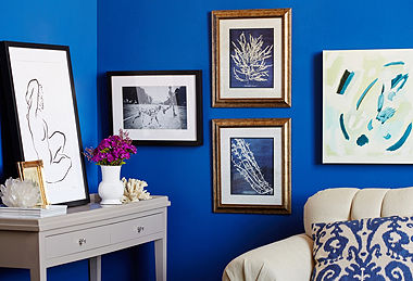 Art for Apartment Living blue walls blue aqua painting