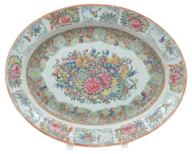 Antique Chinese Platter, C. 1890
