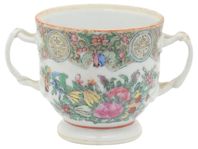 Double-Handled Famille Rose Cup