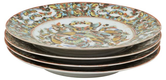 1000 Butterfly Plates, S/4