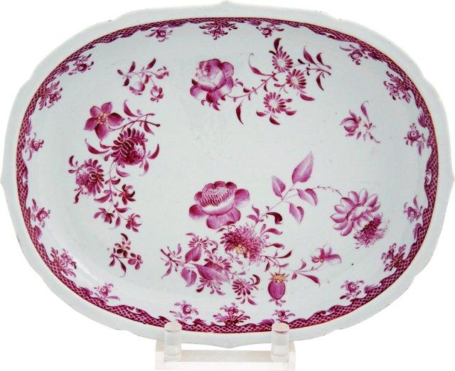 Chinese Export Platter, c. 1760