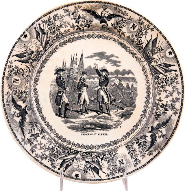 Antique Transferware Plate, Napoleon
