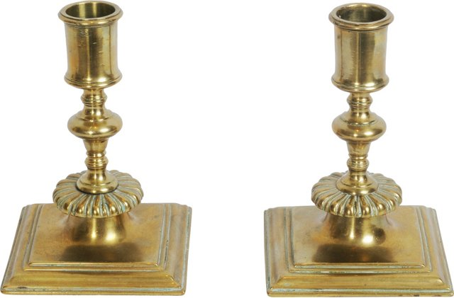 Pair of French Candlesticks, 18th c.