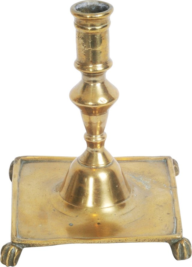 18th-c. Brass Candlestick