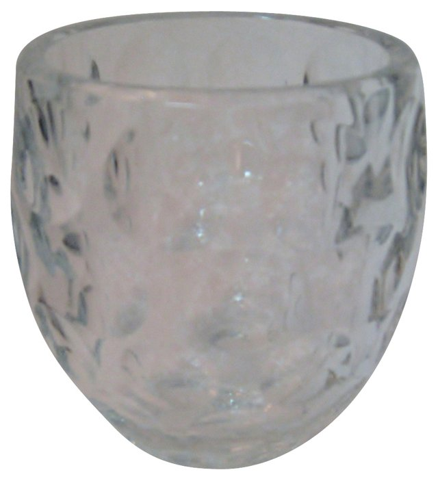 Crystal Thumbprint Vase
