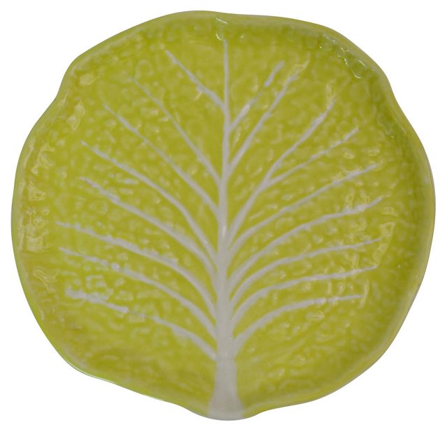 Yellow Cabbage-Leaf Plate