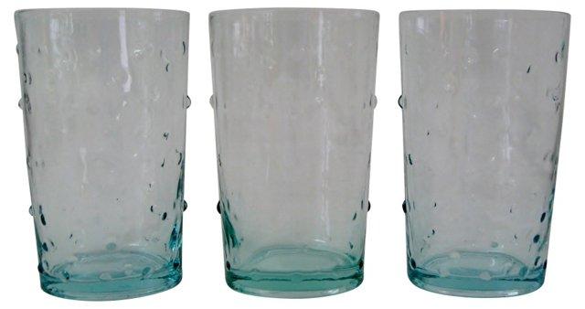 Aquamarine Glasses, S/3