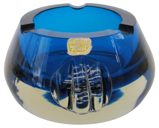 Bohemian Blue Ashtray