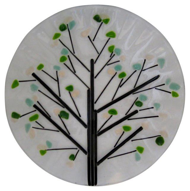 Ruffled   Glass Plate