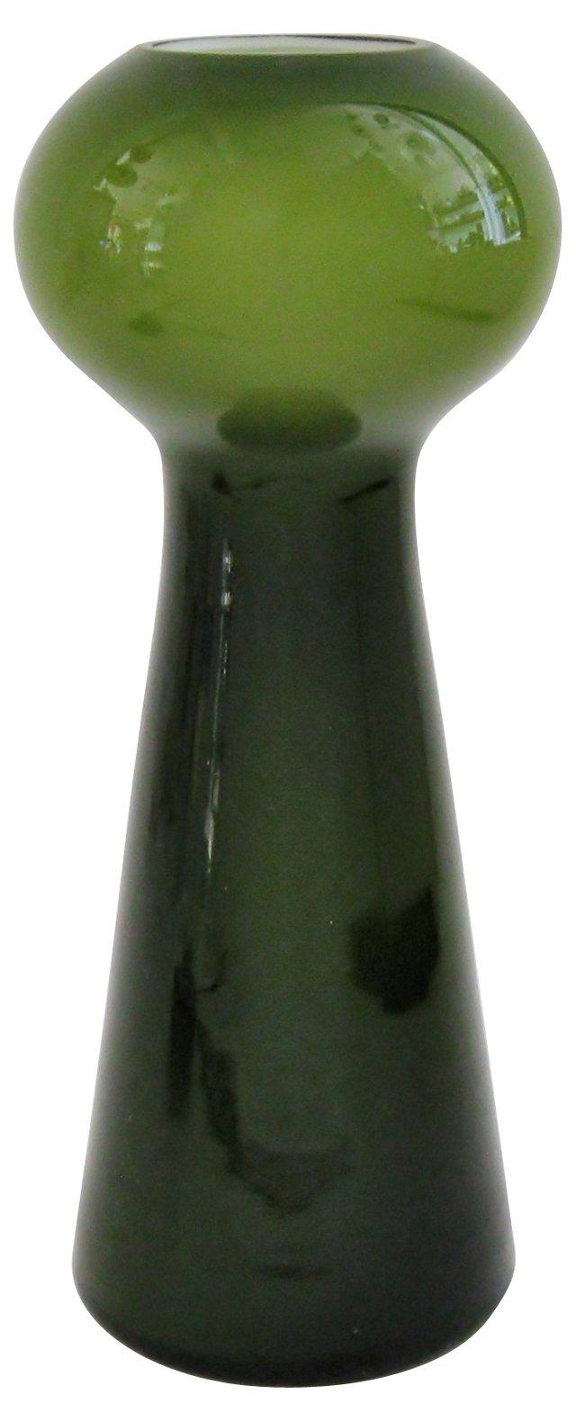 Olive Cased Glass Vase