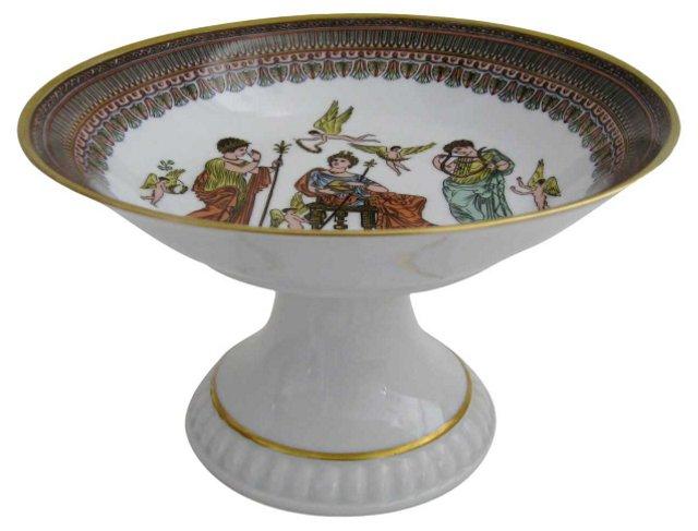 Bavarian Porcelain Pedestal Dish