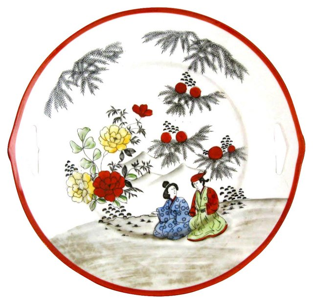 Hand-Painted Ceremonial Plate