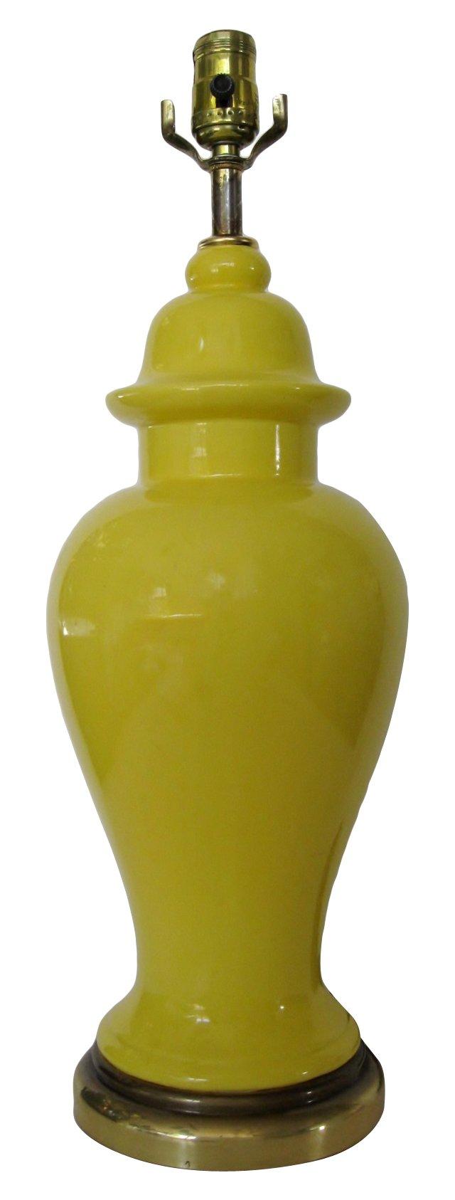 Yellow Ginger Jar Lamp