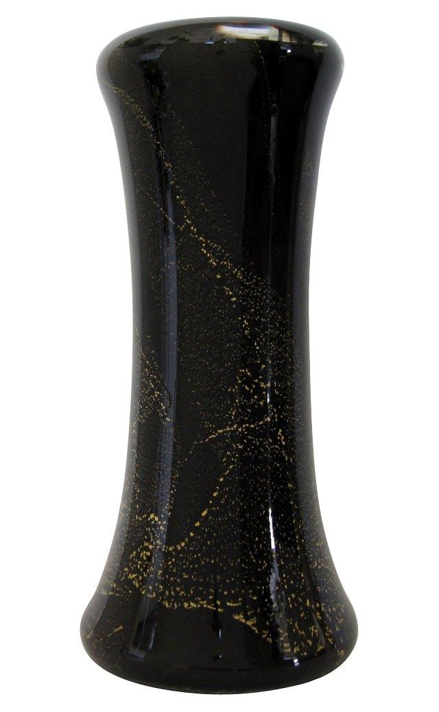 Black & Gold Glass Vase
