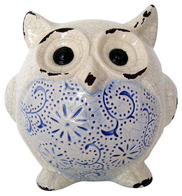 Distressed Ceramic Owl