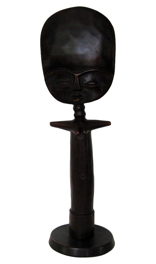 African Wood Fertility Statue