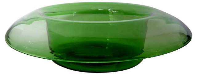 Rounded-Rim Green Centerpiece