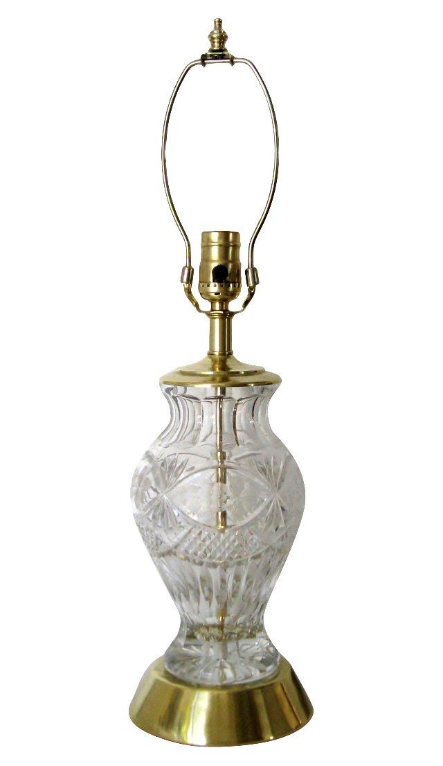 Cut-Crystal & Brass Lamp