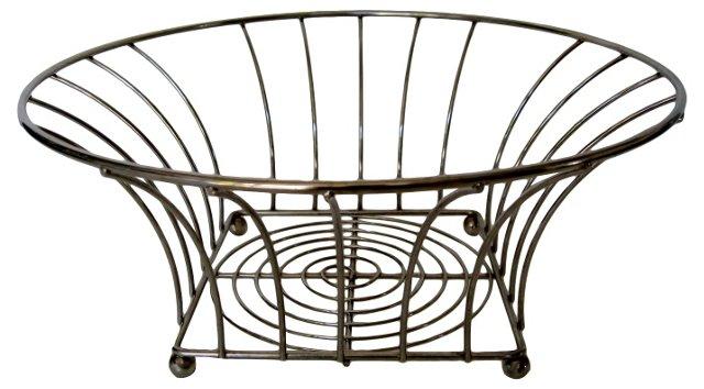 Italian Brass Wire Basket