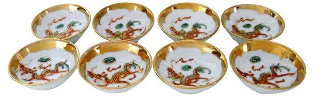 Dragon Sauce Bowls, S/8